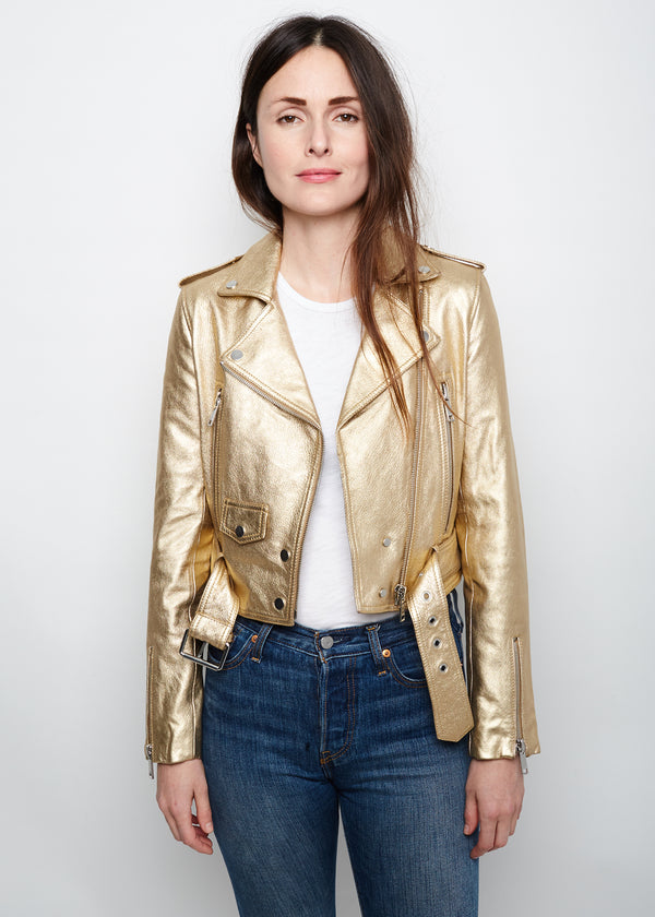 MYA Cropped Biker  | Gold Rush