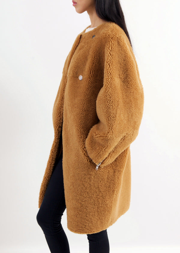 GAL	Reversible Teddy Coat | Tobacco