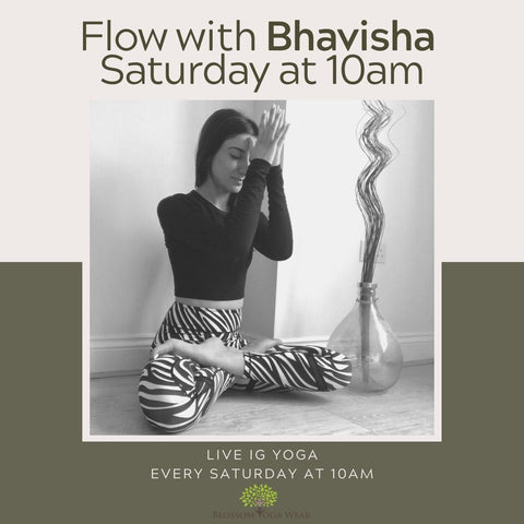 Live yoga class free on instagram with blossom yoga wear