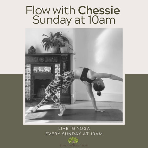 Free yoga classes live on instagram with blossom yoga wear