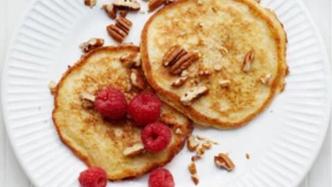 Super quick and easy Banana Pancakes made in a nutribullet