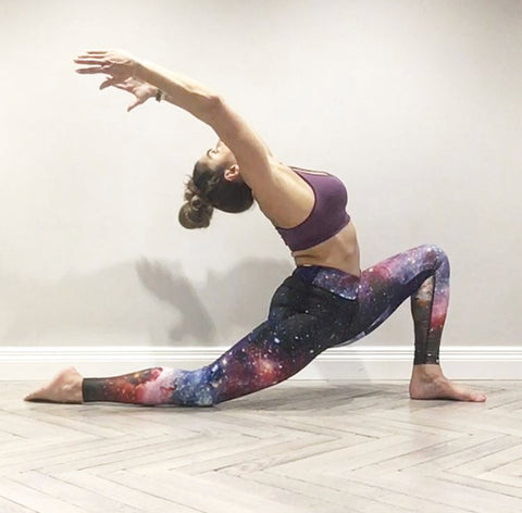 Crescent Lunge pose wearing Blossom Yoga Wear Yoga Pants