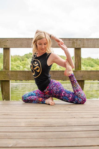 Mermaid pose blossom yoga wear