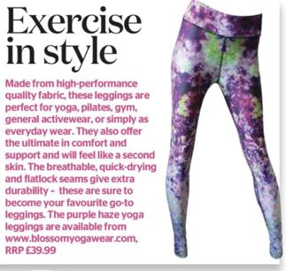 Healthy Diet Magazine - Blossom Yoga Wear Purple Haze