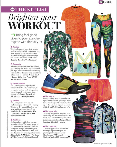 Healthy Magazine September 2018 Featuring Blossom Yoga Wear