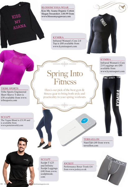 Blossom Yoga Wear in Sloan Magazine