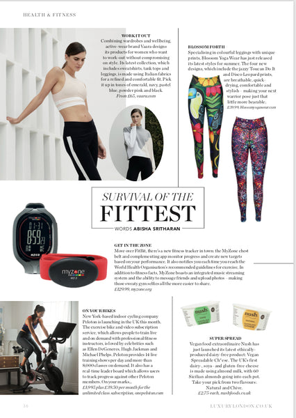 Blossom Yoga Wear Featured in Luxury London Magazine