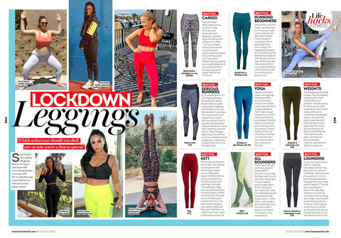 Blossom Yoga Wear High Waist Gym Leggings Featured in Heat Magazine Lock Down Leggings 2020