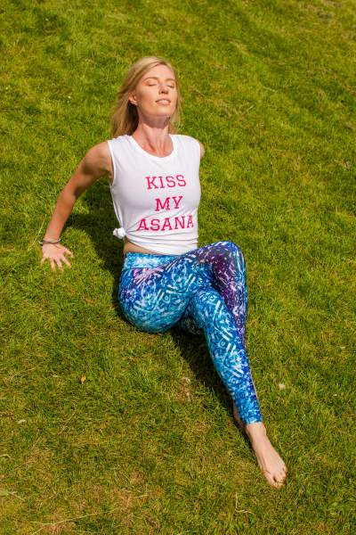 Lucid Aurora Yoga Pants with Kiss My Asana Vest Top
