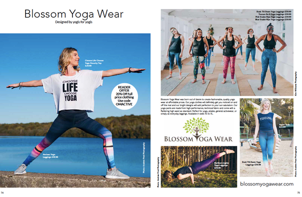 Blossom Yoga Wear in Om Yoga Magazine