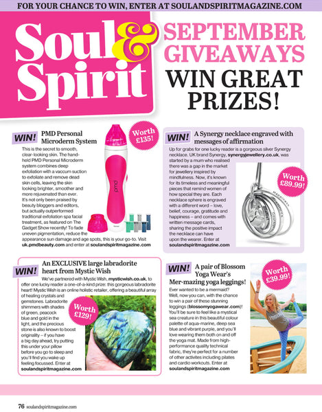 Blossom Yoga Wear in Soul & Spirit Magazine