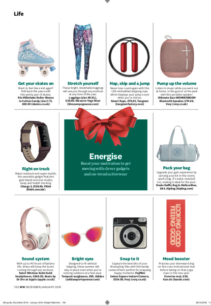 Blossom Yoga Wear Featured in Weight Watchers Magazine Xmas Gift Guide