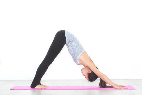Downward facing dog blossom yoga wear winter yoga blog