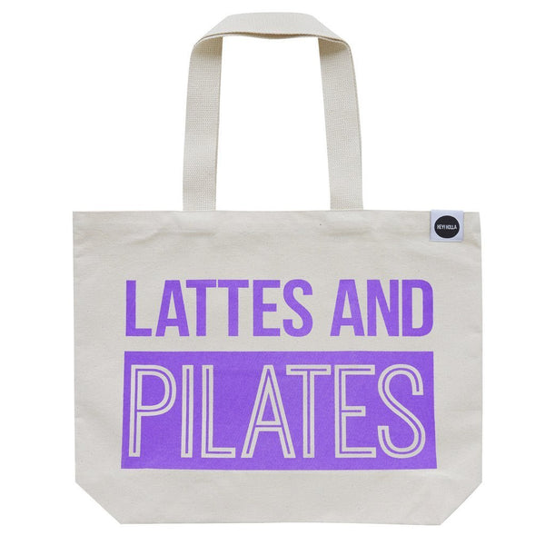 HEY! HOLLA Lattes and Pilates Tote Bag