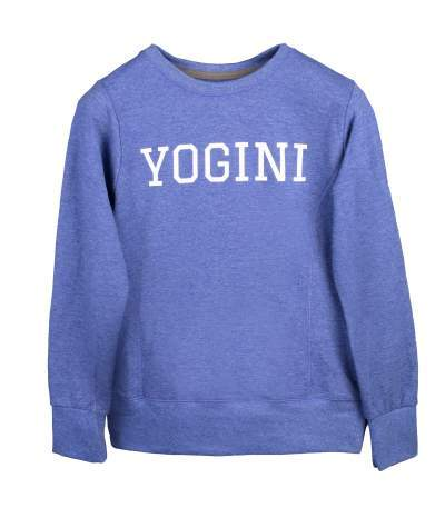 Blue Yogini Slogan Sweatshirt - Blossom Yoga Wear
