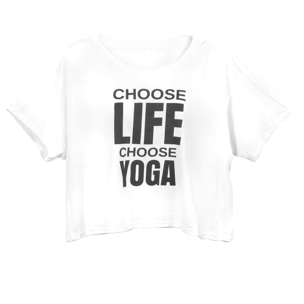 Choose Life Choose Yoga Slogan Slouchy Tee