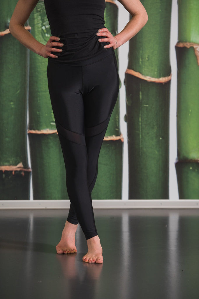 Black Magical Mesh High Waisted Yoga Pants   Blossom Yoga Wear