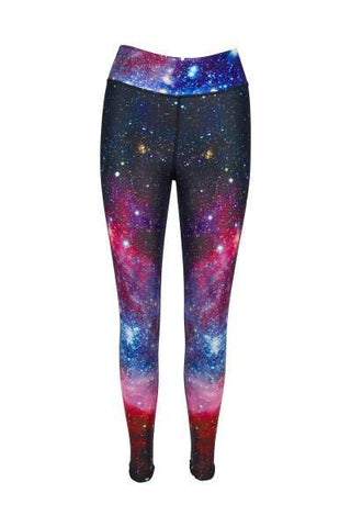 Galaxy Glamour High Waisted Printed Yoga Pants - Blossom Yoga Wear