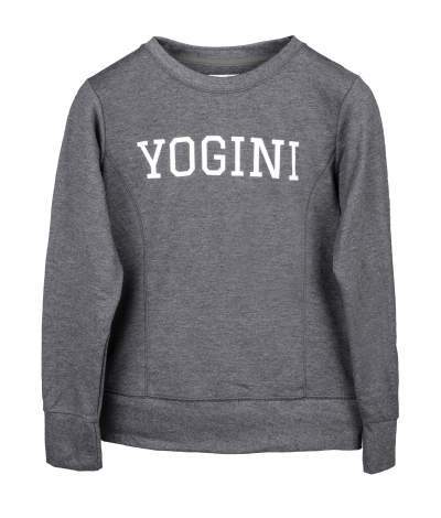 Grey Yogini Slogan Sweatshirt - Blossom Yoga Wear