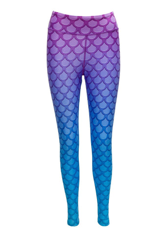 Mer-Mazing Mermaid Print Yoga Pants - Blossom Yoga Wear