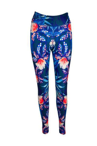 Pranayamadise Floral High Waisted Printed Yoga Pants - Blossom Yoga Wear