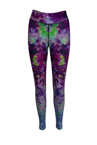Purple Haze High Waisted Printed Yoga Pants - Blossom Yoga Wear