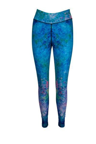 Water Baby High Waisted Printed Yoga Pants - Blossom Yoga Wear