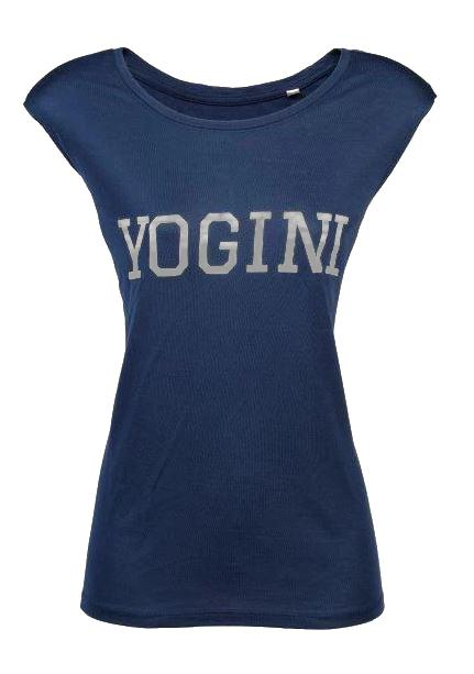 Yogini Slogan Vest Top Blue / Silver