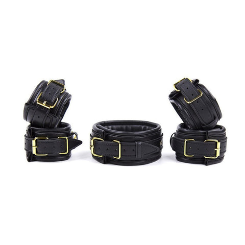 Leather sexy handcuffs 3 pcs/set adult