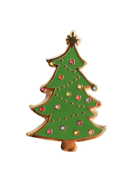 Holiday tree pin