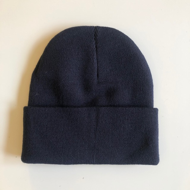 Rib Knit Toque - Navy