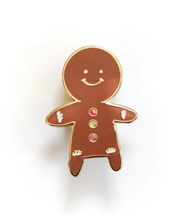 Gingerbread person pin