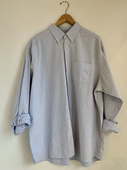 Pale Blue Cotton Button Up- L