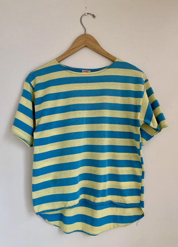 Vintage Blue/Yellow Striped Tee