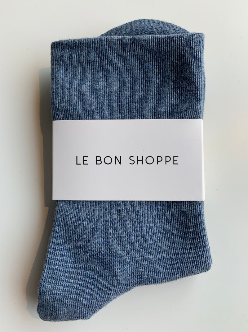Soft sneaker sock - Denim