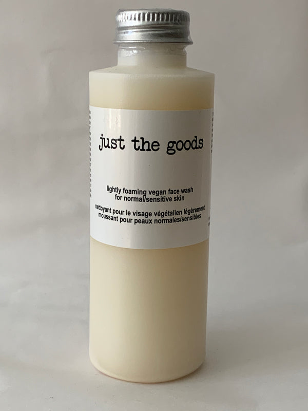 Vegan Lightly Foaming Face Wash - Normal/Sensitive Skin - 4 oz
