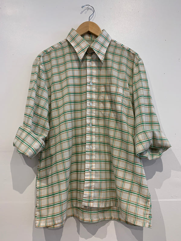 Vintage Plaid Button Up