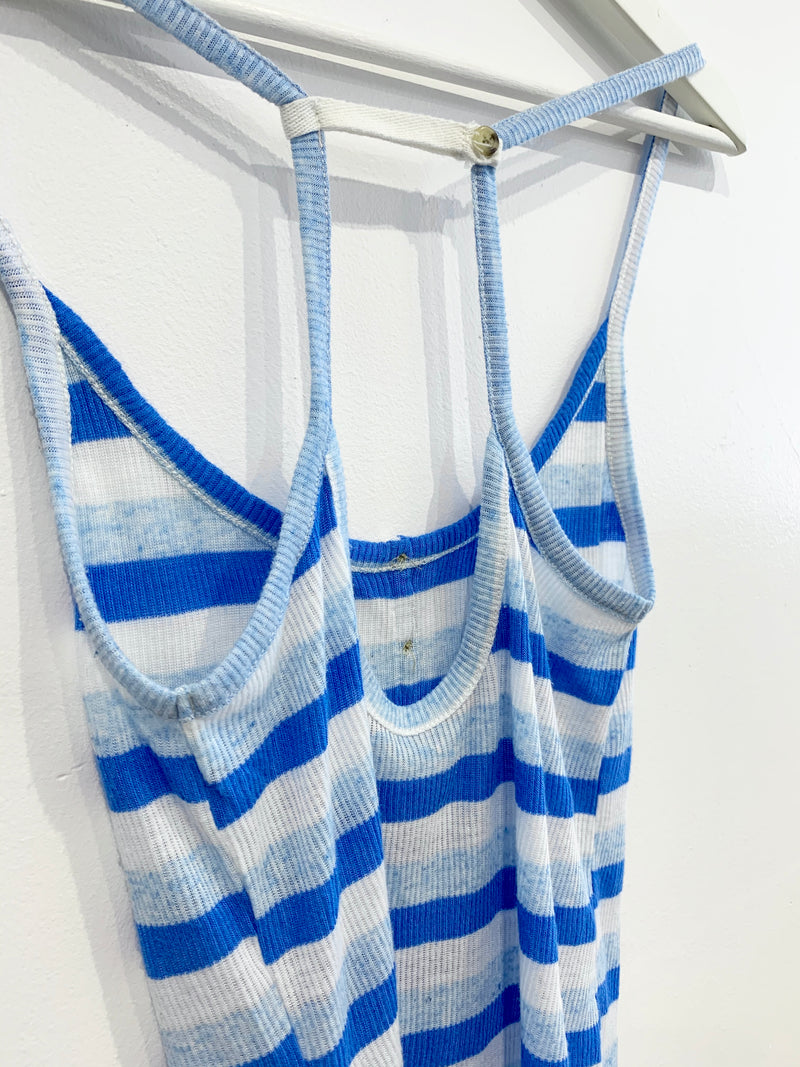 Blue Striped Tank Top