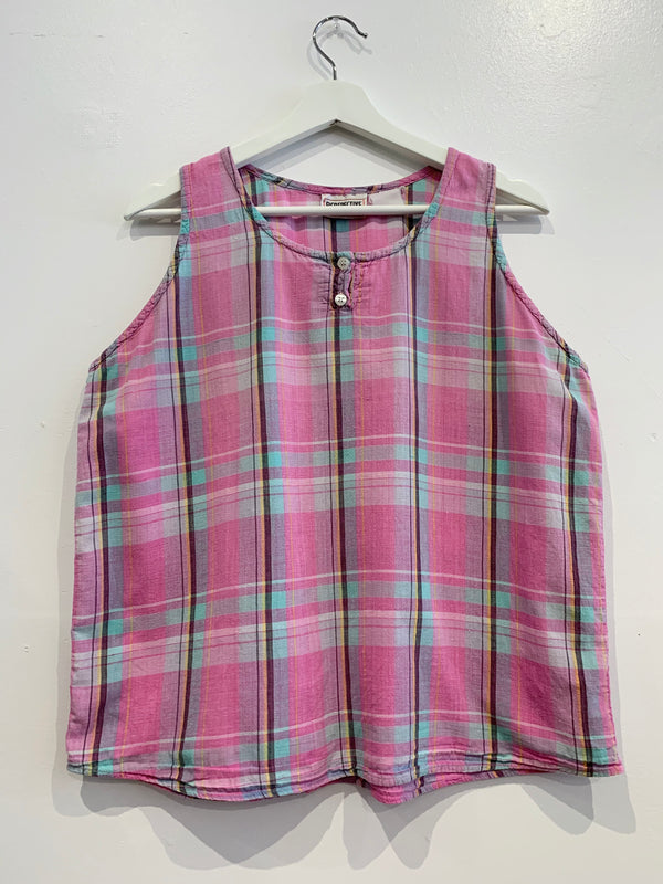 Vintage Plaid Tank Top