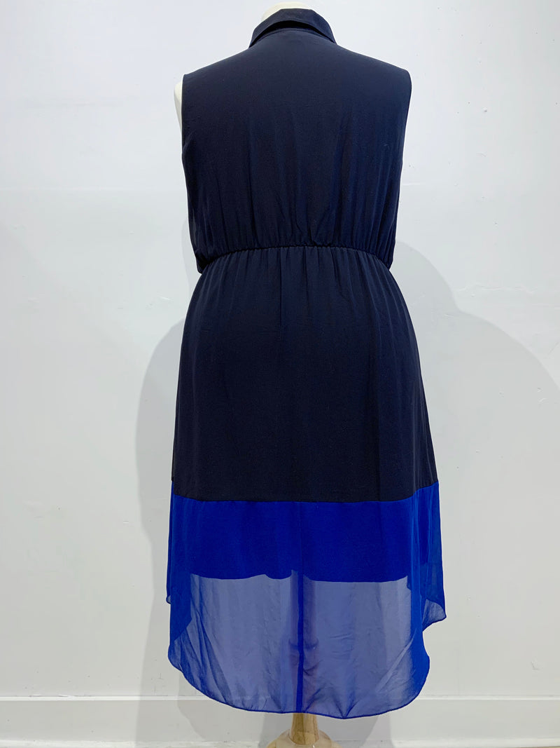 Contemporary Colourblock Sleeveless Dress