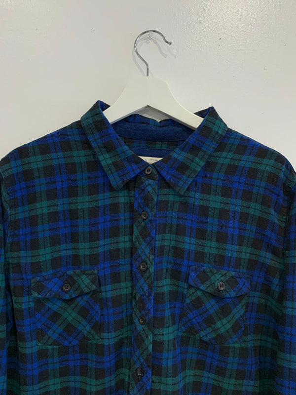 Two Pocket Plaid Button Down