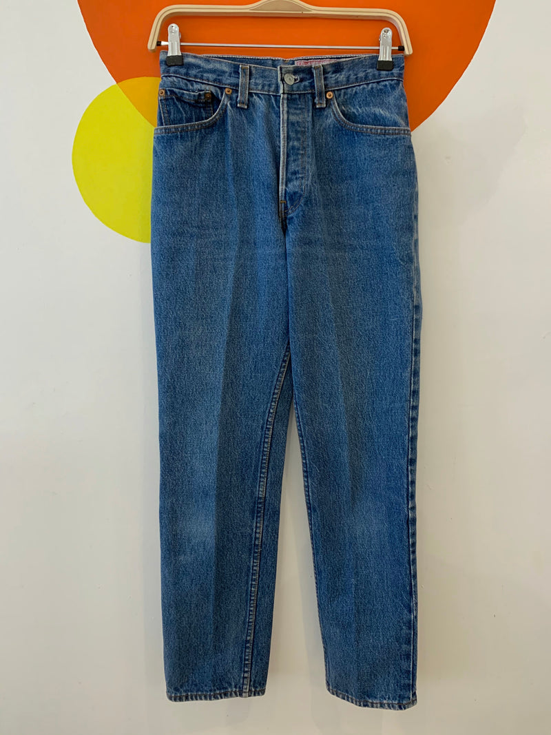 True Vintage Levis - 80s Era with Unusual Embroidered Care Label