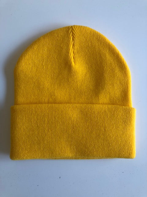 Rib Knit Toque - golden yellow