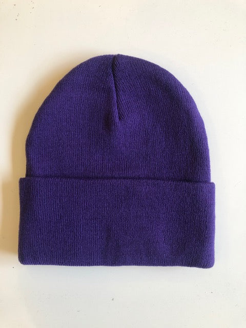 Rib Knit Toque - purple