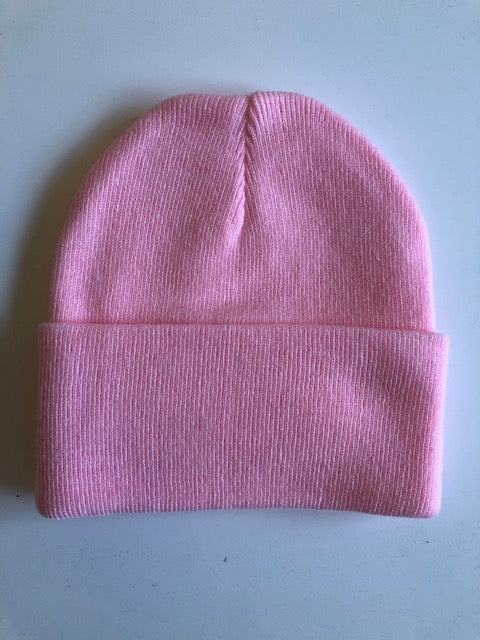 Rib Knit Toque - pink