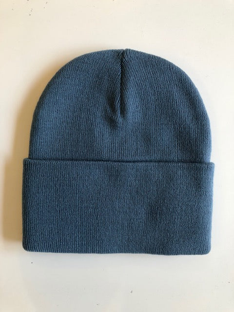 Rib Knit Toque - Steel Blue