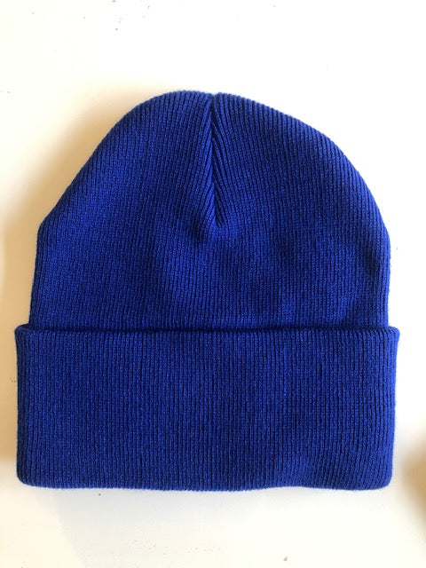 Rib Knit Toque - Royal Blue