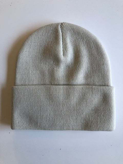 Rib Knit Toque - Ivory