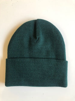Rib Knit Toque - Forest Green