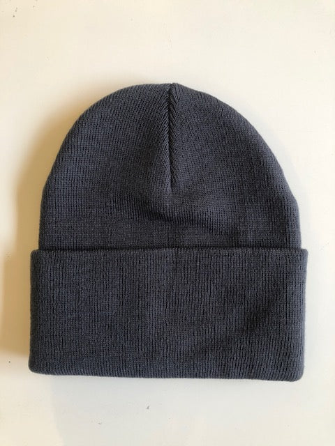Rib Knit Toque - Dark Slate Grey
